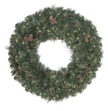 Prelit Carolina Mixed Christmas Garland