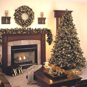 Prelit, Pre-lit or Prelighted Artificial Carolina Mixed Christmas Trees Wreaths & Garland